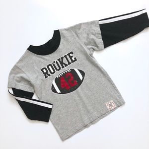 Boys Wes & Willy Rookie Football Tee Shirt 3T